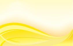 横幅黄色 库存照片