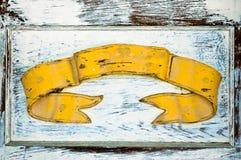 横幅黄色 免版税库存图片