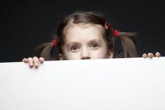 横幅黑色女孩年轻人 免版税库存照片