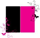 横幅黑色粉红色 免版税库存照片