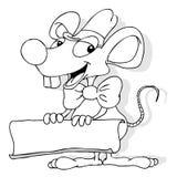横幅鼠标 免版税库存照片