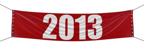 2013年横幅(包括的裁减路线) 免版税库存照片