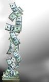 横幅货币verticle 免版税图库摄影