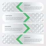 横幅织法样式绿色 向量例证