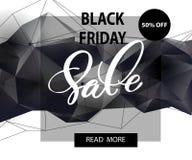 横幅黑色星期五销售额 向量 免版税库存图片