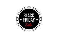 横幅黑色星期五销售额 增进折扣标签 免版税库存图片