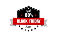 横幅黑色星期五销售额 增进折扣标签 图库摄影