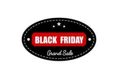 横幅黑色星期五销售额 增进折扣标签 库存图片
