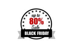 横幅黑色星期五销售额 增进折扣标签 库存照片