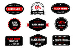 横幅黑色星期五销售额 增进折扣标签 免版税图库摄影
