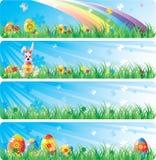 横幅colorfol复活节集 库存照片