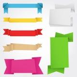 横幅origami 免版税图库摄影