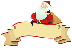 横幅s圣诞老人滚动 库存照片