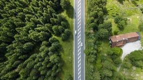 横渡哈茨山的街道 免版税图库摄影