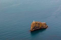 横渡在圣乔治岩石在海角Fiolent附近 库存图片