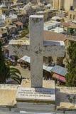 横渡在奥地利招待所的屋顶上面在耶路撒冷 免版税库存图片