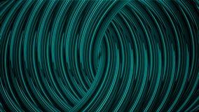 横渡在螺旋的五颜六色的闪烁霓虹线的抽象动画 o E 皇族释放例证