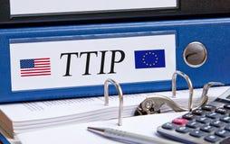 横渡大西洋的贸易和投资 免版税库存照片