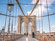 横渡布鲁克林大桥 图库摄影