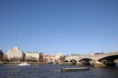 滑铁卢桥梁,伦敦 免版税库存图片