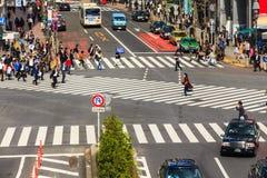 横渡涩谷行人穿越道 免版税库存照片
