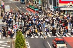 横渡涩谷行人穿越道 免版税库存图片