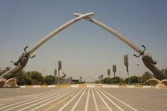横渡的剑在巴格达 免版税图库摄影
