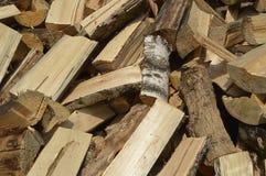 横渡的木头 库存照片