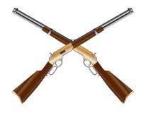 横渡的步枪 免版税图库摄影