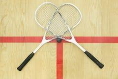 横渡的软式墙网球顶视图 库存照片