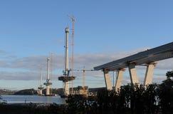 横渡的Queensferry建设中 库存图片