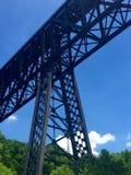 横渡肯塔基河的高桥梁 免版税库存图片