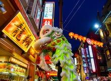 横滨唐人街在农历新年期间的在日本 库存图片