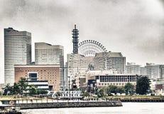 横滨- 8月19 :现代大厦看法在横滨口岸, Ja的 库存照片
