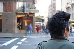 横穿街道 图库摄影
