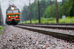 横穿连接点光透视图铁路运输铁路业务量培训 库存照片