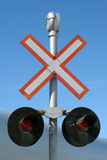 横穿铁路符号 库存图片