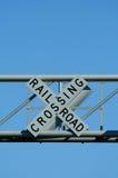 横穿铁路符号 图库摄影