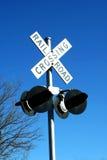 横穿铁路符号 库存照片