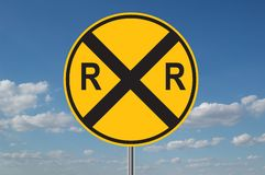 横穿铁路警告 库存例证