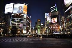 横穿shibuya 免版税图库摄影