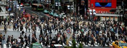 横穿shibuya 免版税库存照片