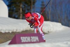 横越全国的滑雪 免版税库存照片