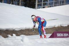 横越全国的滑雪 免版税图库摄影