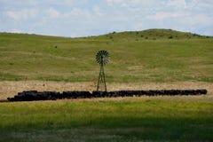 横跨内布拉斯加Sandhills牛国家的旅行 库存照片