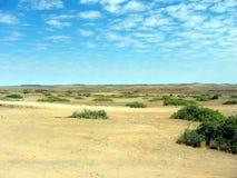 在内地沙漠平原 库存图片