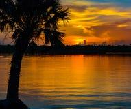横跨印地安河的日出 图库摄影