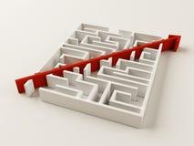 解决的迷宫难题 库存例证