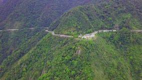 横跨宜兰海岸线的路在台湾 东北镇在台北市附近的海岸Mountan地形  r 影视素材
