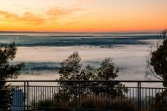 横跨悉尼盆地的日出 免版税库存照片